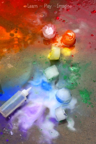 Rainbow eruptions for summer with ice