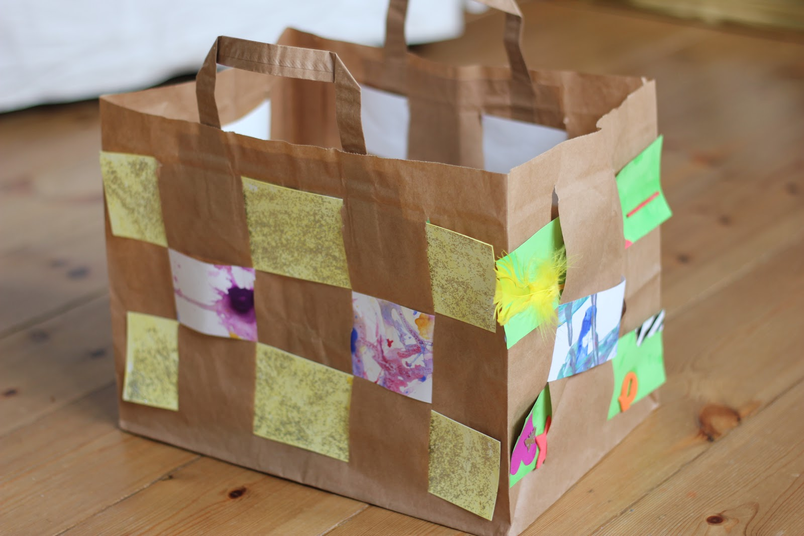 Easy Things To Make Easy Paper Bag Weaving The Imagination Tree