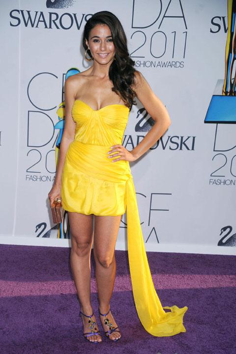Emmanuelle Chriqui   2011 Cfda Fashion Awards