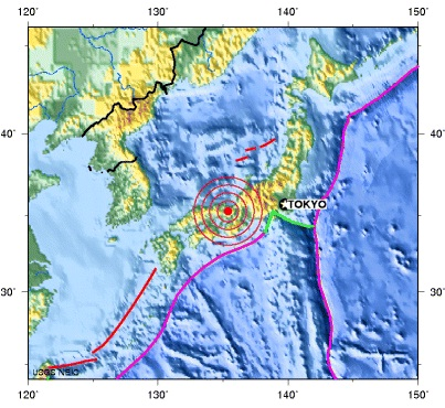 WESTERN HONSHU, JAPAN earthquake 2012 September 21