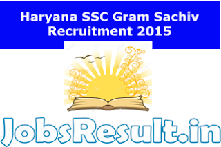 Haryana SSC Gram Sachiv Recruitment 2015