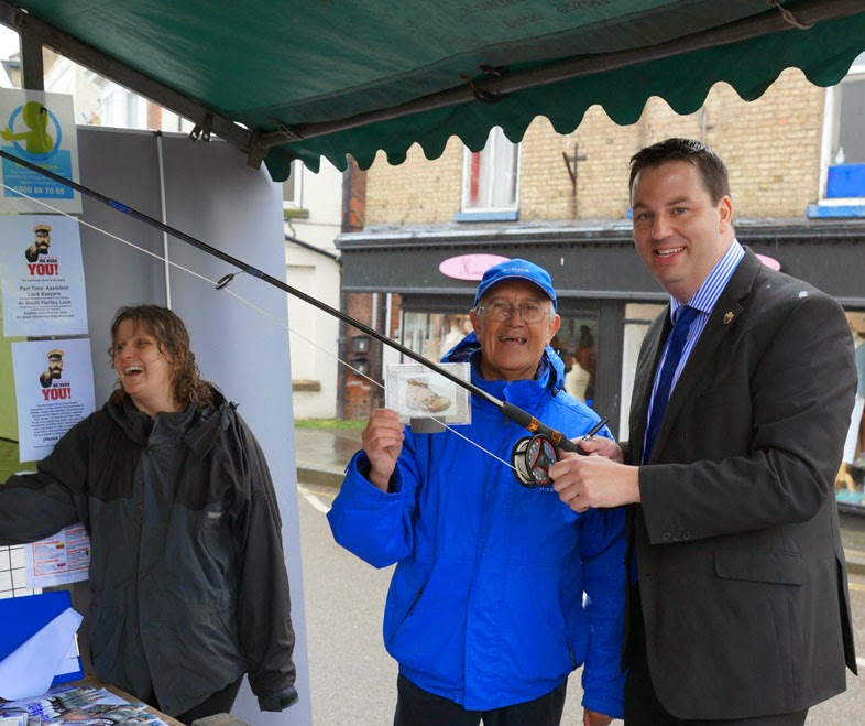 Brigg and Goole MP Andrew Percy visiting a stall during the Ancholme River Festival in Brigg