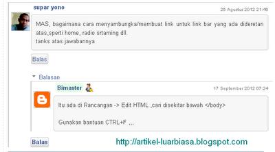 CSS Style untuk thread komentar default template blogger Keren
