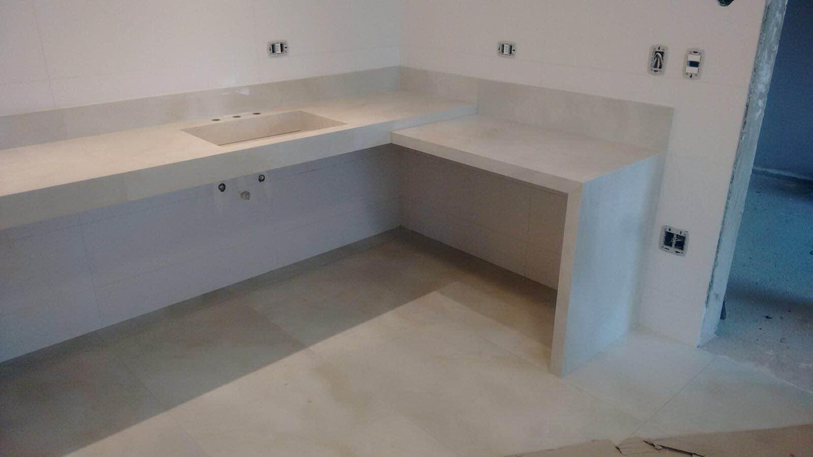 Bancadas revestimento de banheiras etc #2D4660 1600x900 Banheiro Bancada Porcelanato