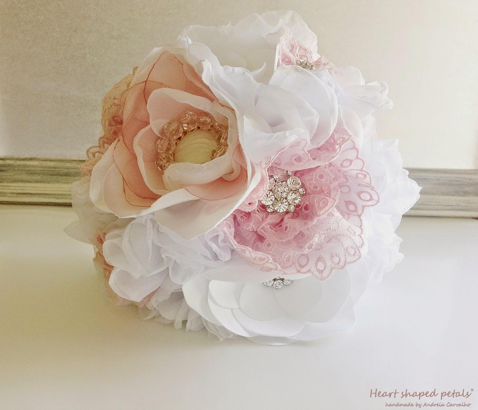 bouquets de noiva em tecido portugal
