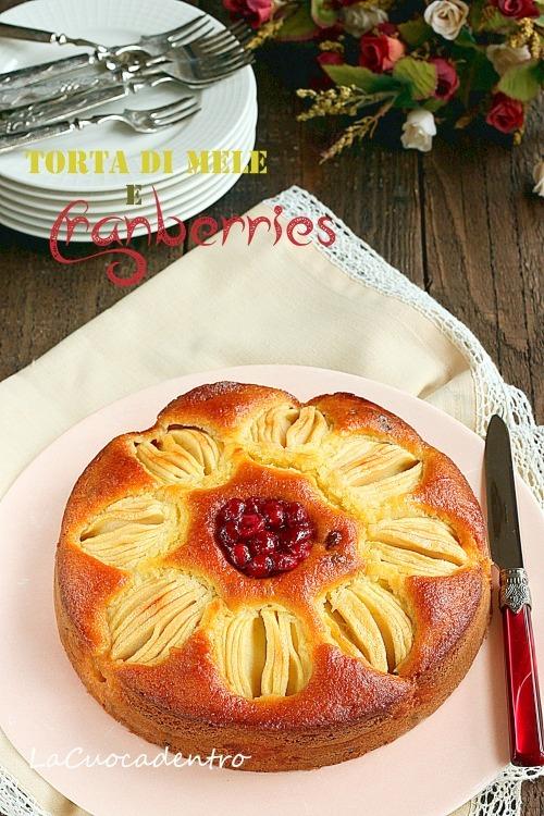 torta di mele e cranberries