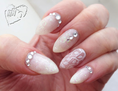 Nail Art Design Elite99 1422 little princess polish Rhinestone glitter Wedding bling