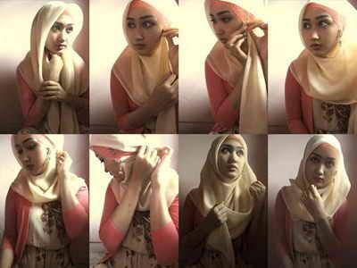 Cara Memakai Jilbab Terbaru Tips Trik Mengenakan Kerudung Untuk Wanita Perempuan Menutupi Aurat Sesuai Syariat Islam Modern Dengan Video Dan Gambar Langkah Kedua