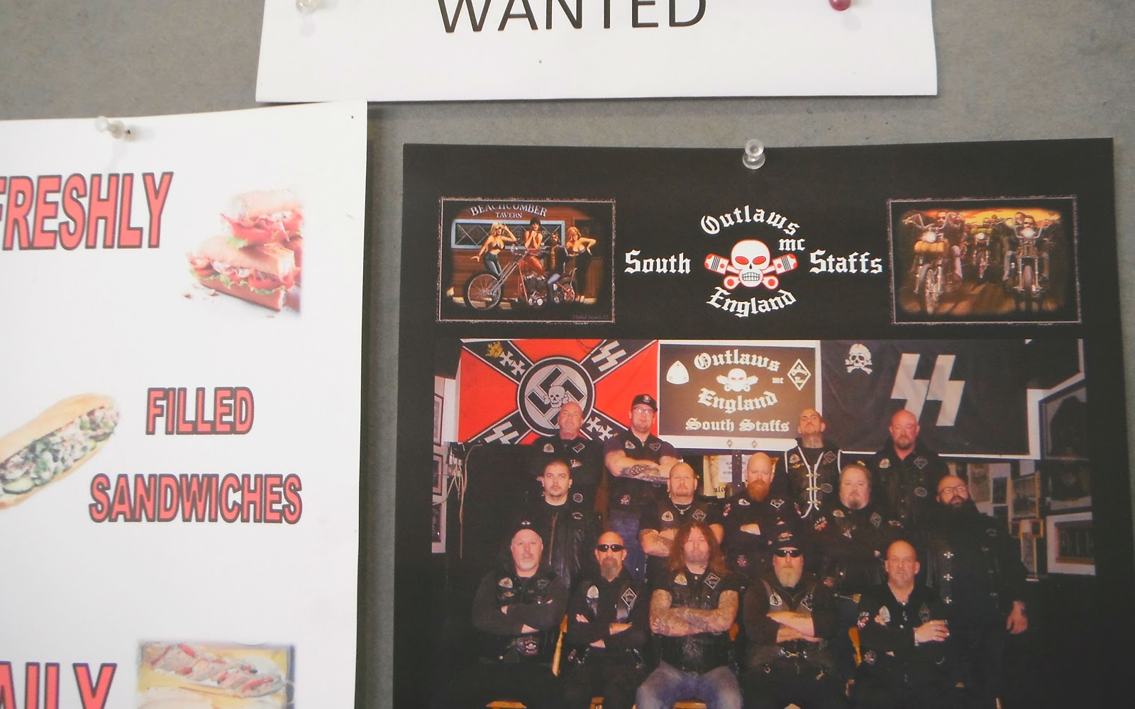 The 2015 Annual Photo of the South Staffs Outlaws Bikers