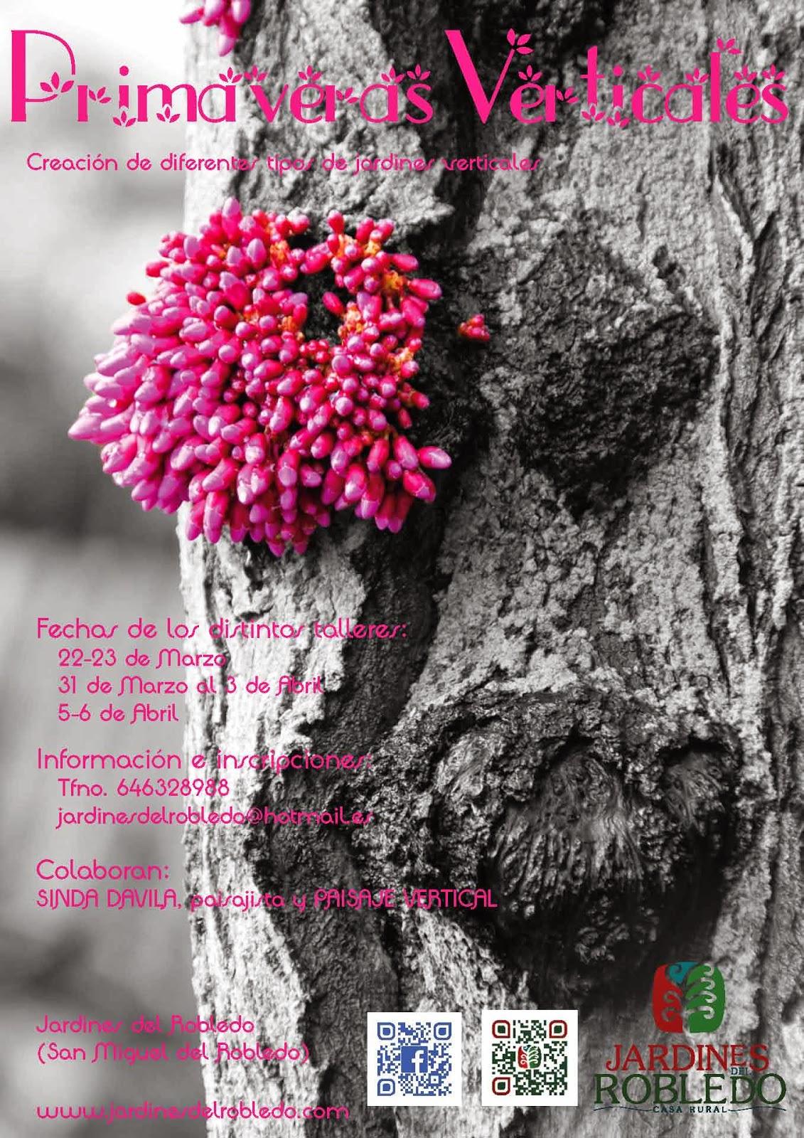 22/Marzo: Primaveras Verticales. San Miguel del Robledo, San Miguel del Robledo, Jardinería, Curso, Formación, Naturaleza,