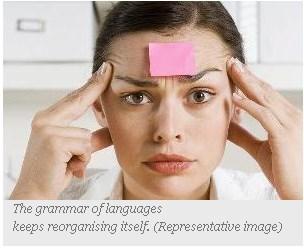 The grammar of languages keeps reorganising itself. (Representative image) - timesofindia.com