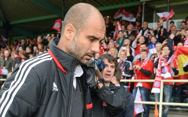 Pep Guardiola will be premiered at a friendly match