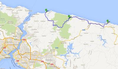 Riva - Şile Gezi Rotası