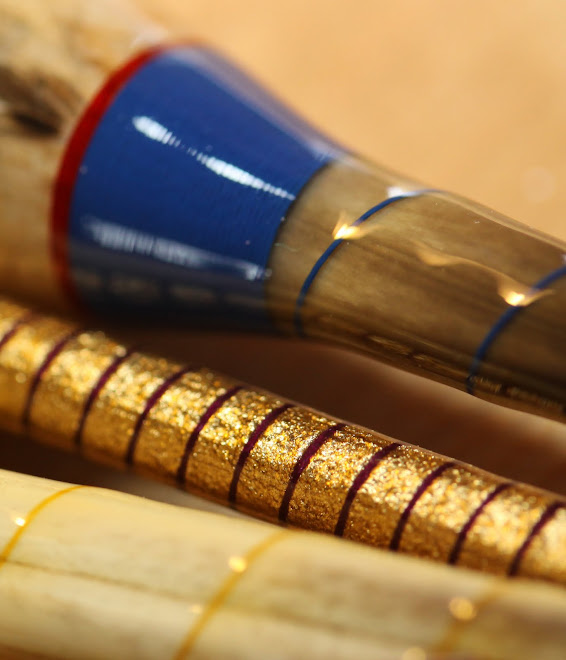 Quill & Cane with Gold Leaf