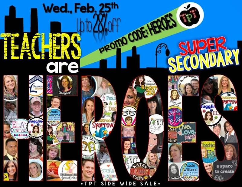 Teachers Are Heroes - who deserve a sale!