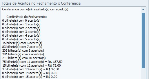 conferencia lotofacil 0900 Resultados e análise de loterias: concurso 0900 da lotofácil