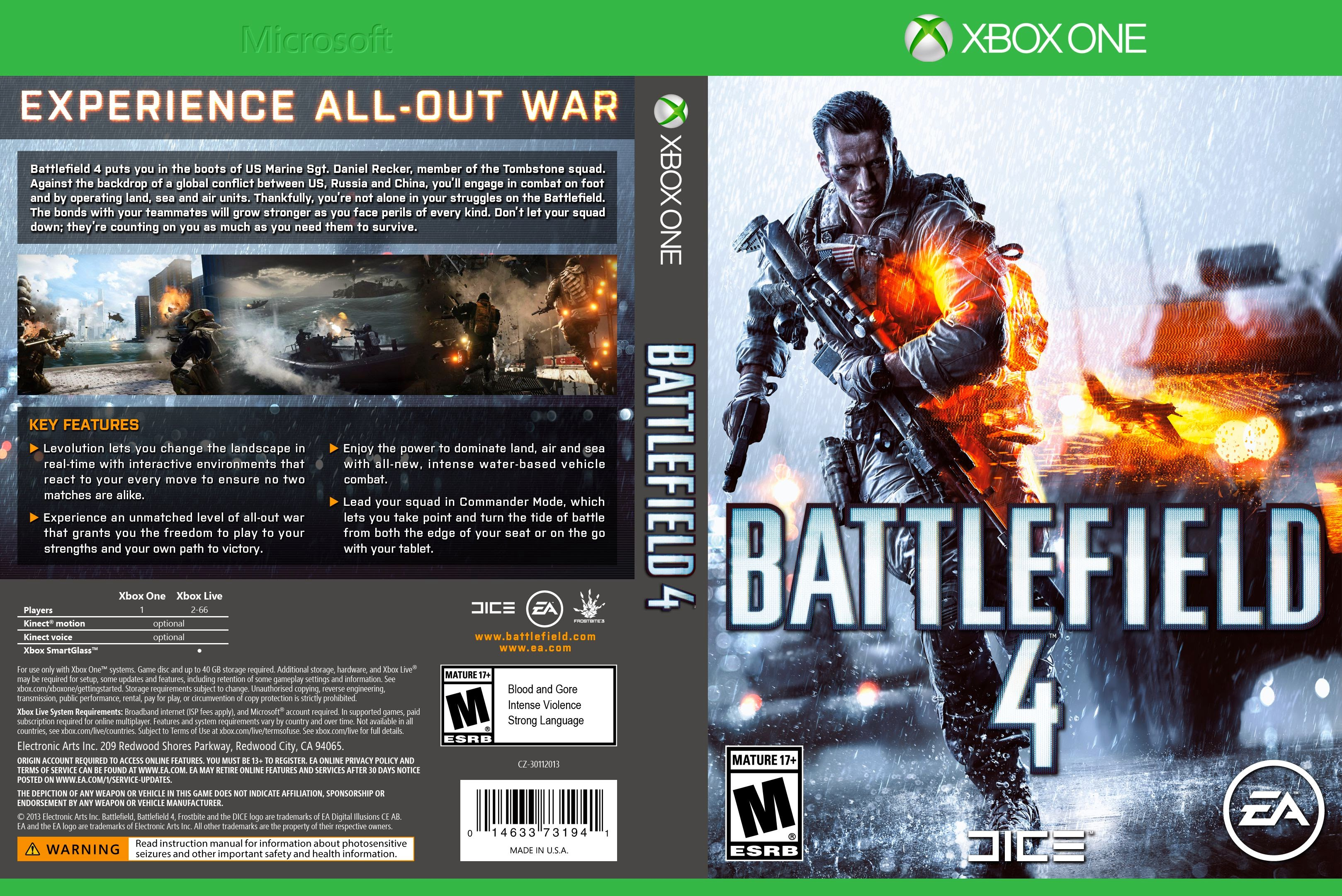 Battlefield4 XboxOne Cover NTSC-DVD jpgXbox One Battlefield 4