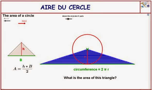 http://dmentrard.free.fr/GEOGEBRA/Maths/Nouveautes/4.25/Airecer1MD.html