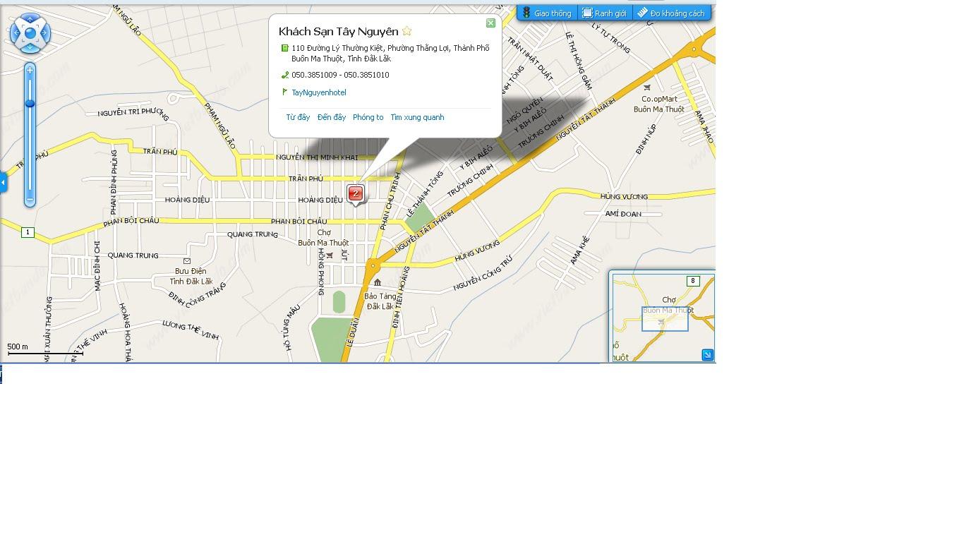 Bản đồ khu vực Khách sạn Tây Nguyên
