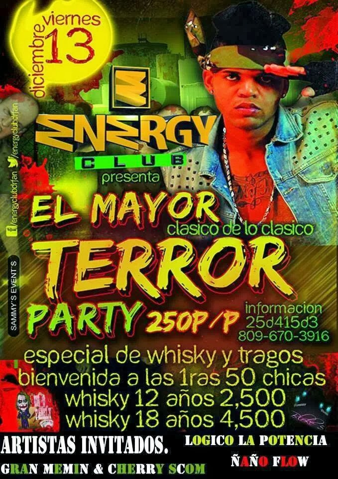Energy Club Presenta: Terror Party
