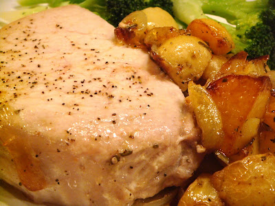 Oven-roasted pork and potatoes