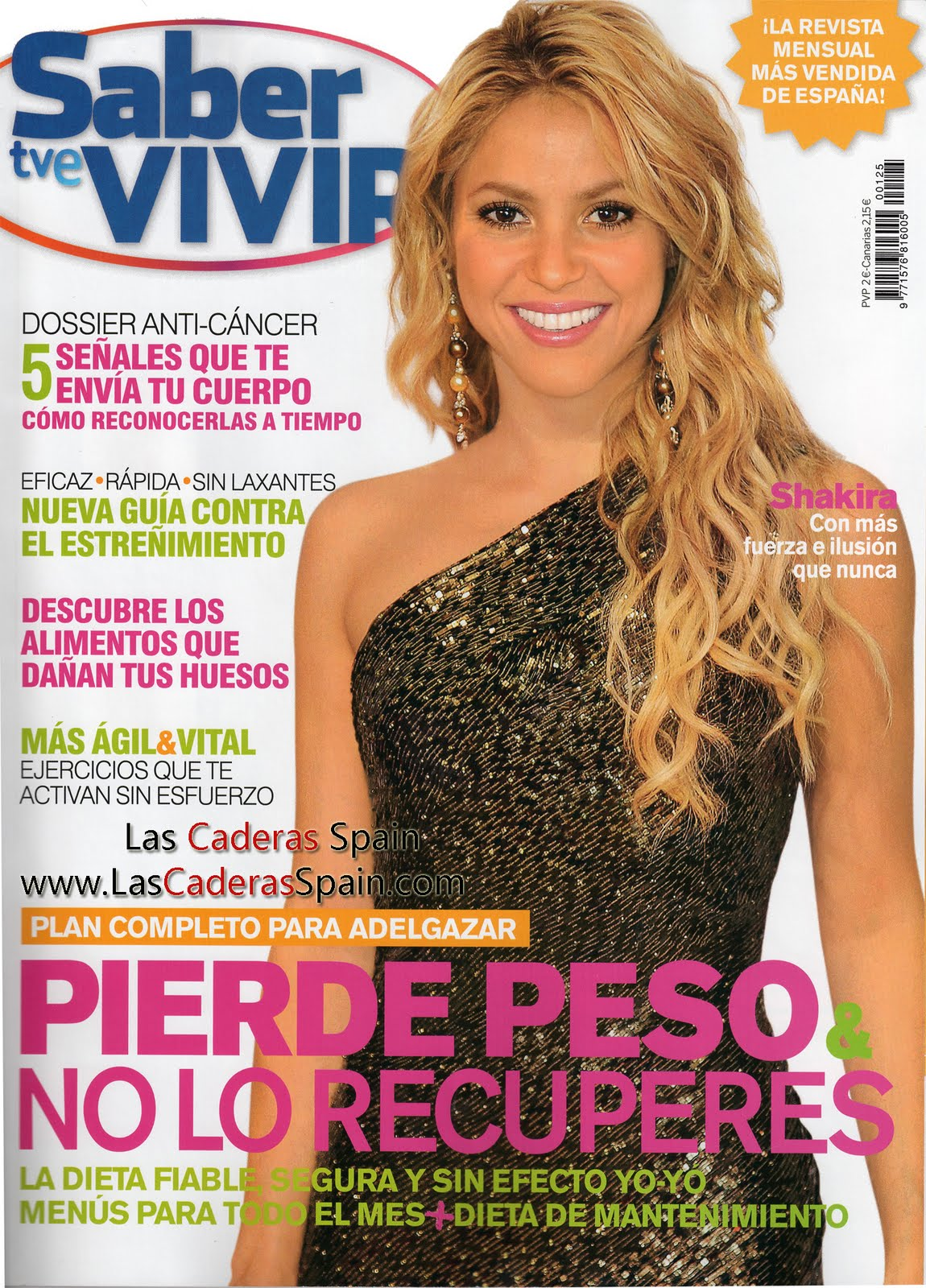 Shakira Argentina Shakira En La Revista Saber Vivir De Espa A ~ Dieta Adelgazamiento Saber Vivir