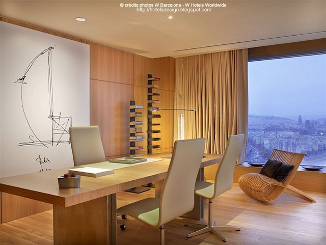 Les plus beaux hotels design du monde h tel w barcelona for Spa hotel w barcelona