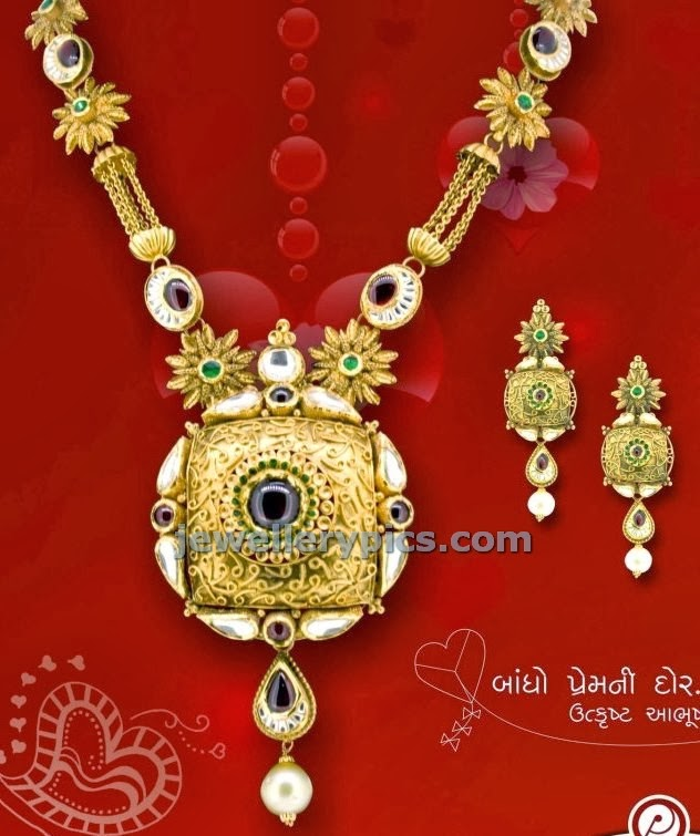 kundan gold long haar