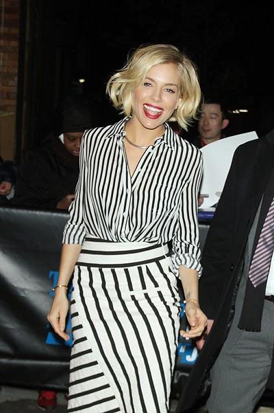 style celebrity Sienna Miller in New York
