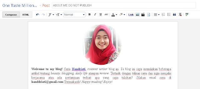 Cara Mudah Membuat Widget About Me Keren di Blog