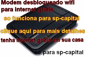 Modem desbloqueado internet gratis