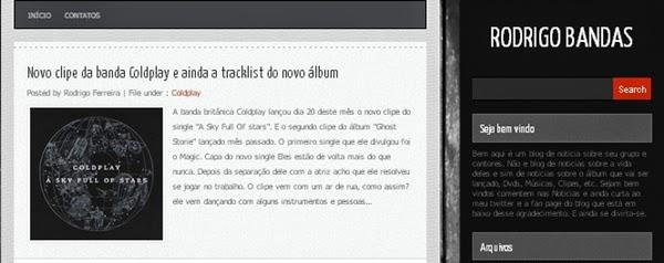 blog, Rodrigo Bandas, música