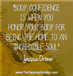 """Body Confidence is when you honor your body for being the home to an incredible soul."" ~ Jessica Ortner Picture of a butterfly. www.TheTappingSolution.com"