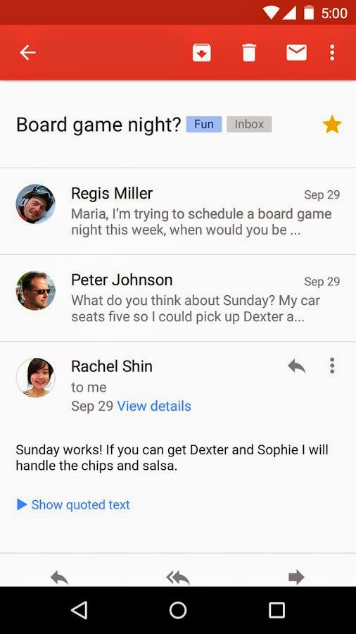 Google updates Gmail app for Android with Yahoo Mail and Outlook.com accounts support