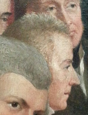 John Pitt, Earl of Chatham in later years: detail from Sir George Hayter's 'The Trial of Queen Caroline' , 1822