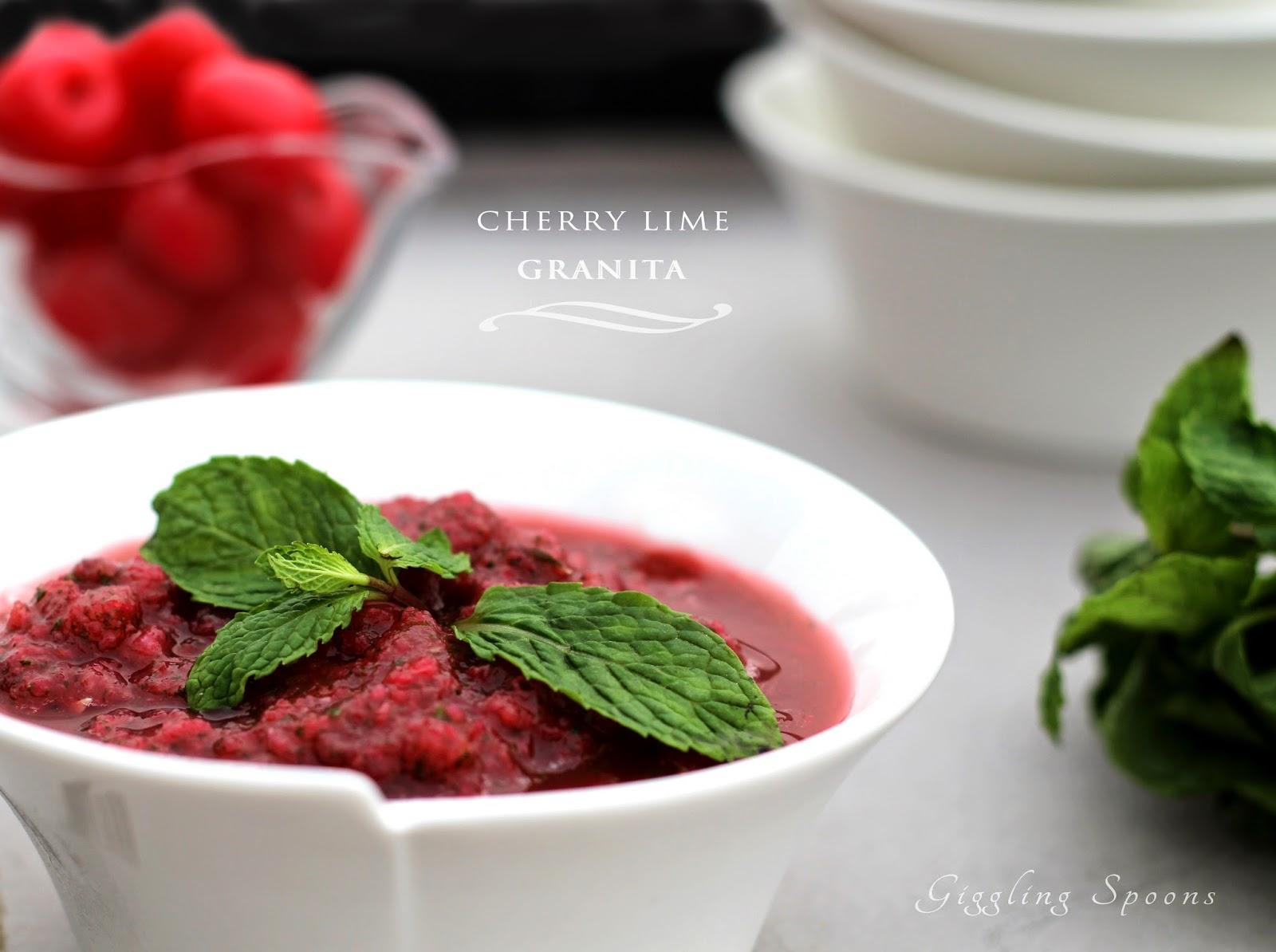 Cherry Lime Granita