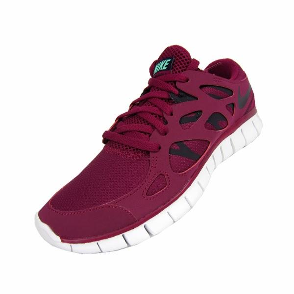 reputable site 79b03 e36e2 Nike Womens Free Run+ 2 EXT. Rasberry Red, Purple Dynasty, Green Glow.  536746-605