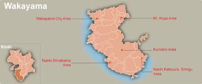 Wakayama Map Regional City