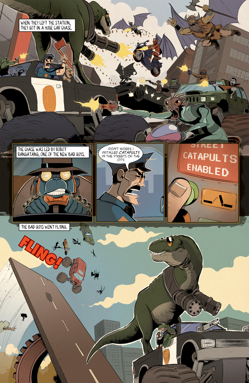Read online Axe Cop: Bad Guy Earth comic -  Issue #2 - 18