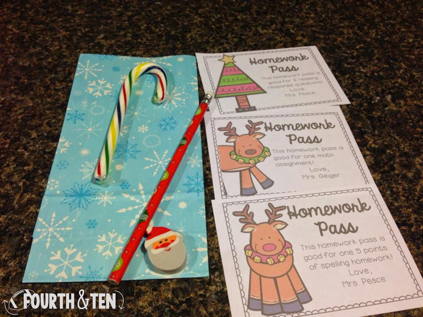 Christmas Homework Pass