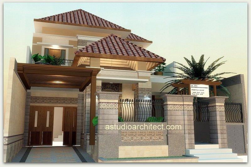 a desain eksterior rumah dr titik