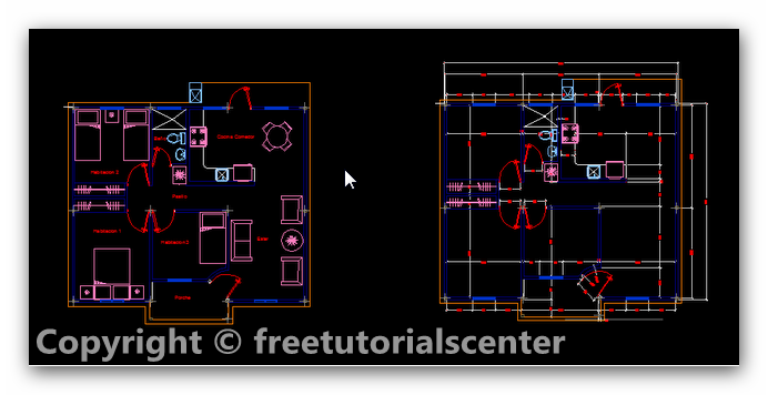 House 2bplan 2b7 Free Autocad House Plan Files Home Design And Style On Autocad