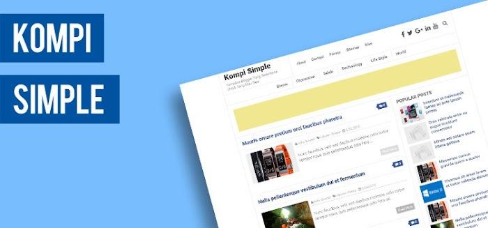 Kompi Simple fast responsive Blogger template