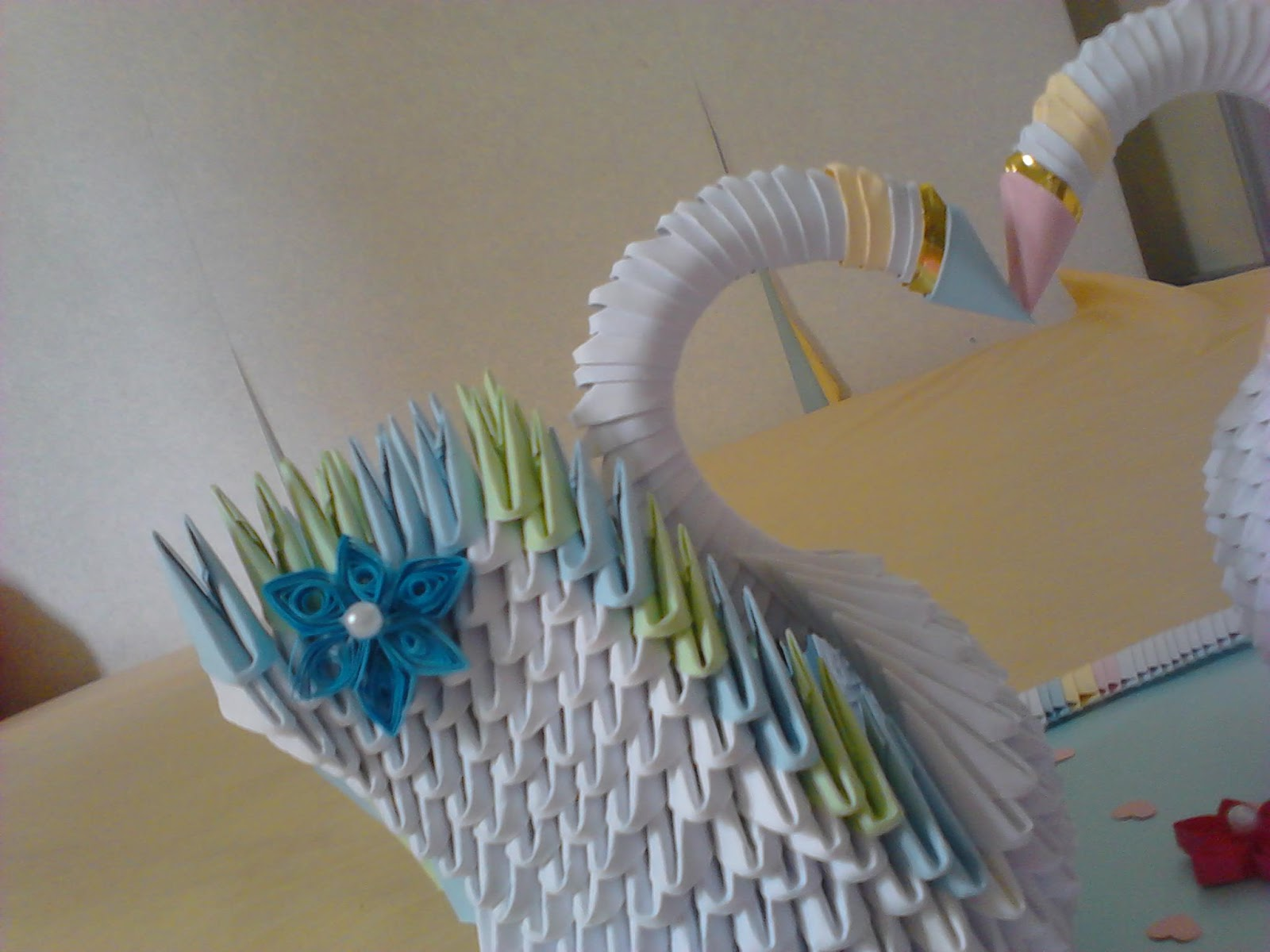 Jewellia handicrafts 3d origami wedding swans jeuxipadfo Choice Image