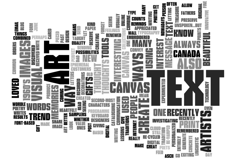 text create: