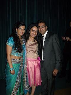 Saree/sari dress in center