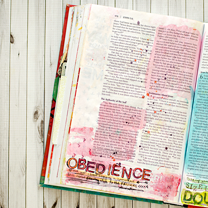 Art Worship Mixed Media Art Journaling Bible | Illustrated Faith | John 5