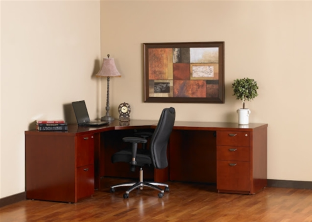 Mayline Mira Series Executive Corner Desk