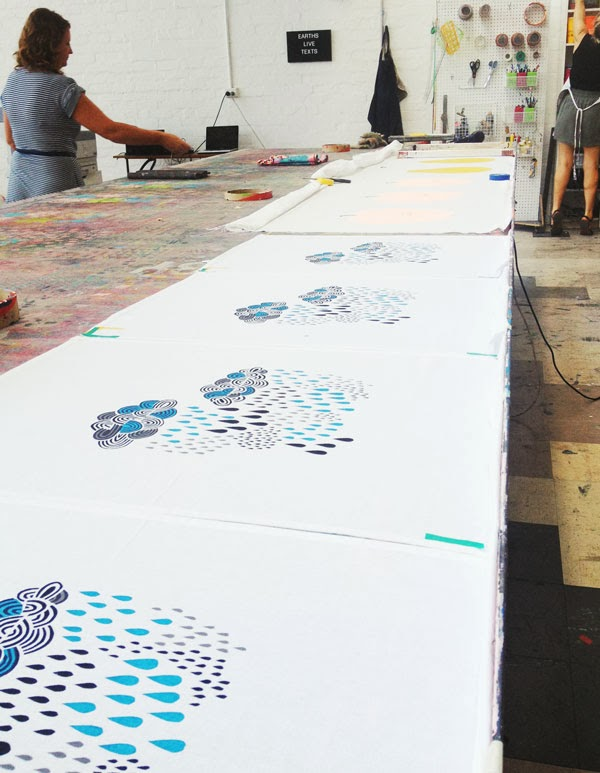 Screen Printing at Harvest Workroom.