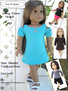 Open Shoulder T-Shirt and Dress PDF Pattern 4.50